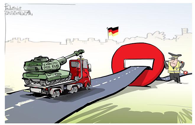 Alemães são tão brutos que até param obuses americanos