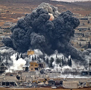 Ataque da coalizão liderada pelos EUA na Síria (arquivo)
