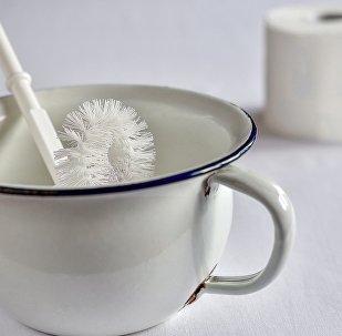Escova sanitária em penico