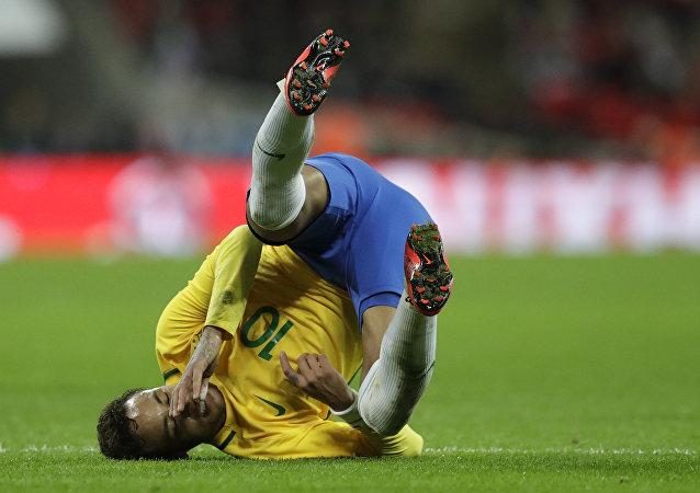 Atacante Neymar em jogo pela seleção brasileira em 2017.