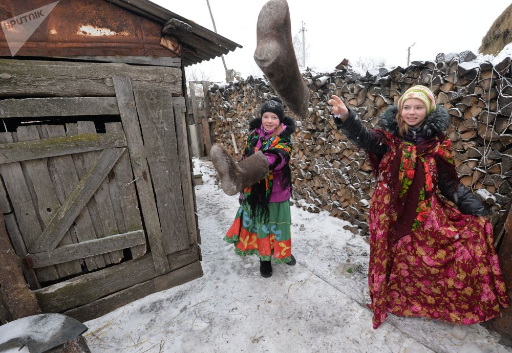 Festejos populares no povoado Kidysh, região russa de Chelyabinsk