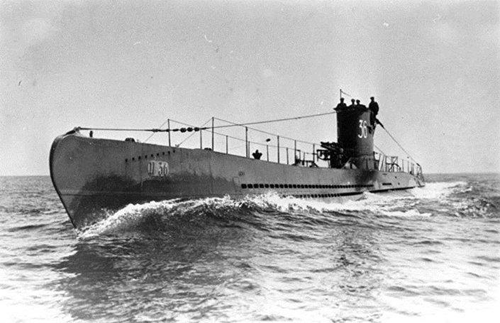 Submarino U-36 da classe VIIA parecido com o U-1206