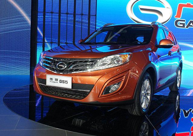 Automóvel da marca Trumpchi na Exposição Internacional de Automóveis em Pequim (foto de arquivo)
