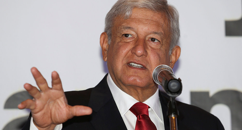 Andrés Manuel López Obrador, candidato da esquerda à presidência do México