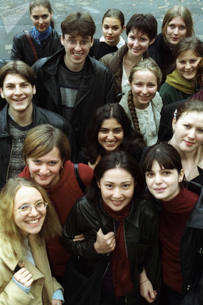 Estudantes da Universidade Estatal de Moscou Lomonosov