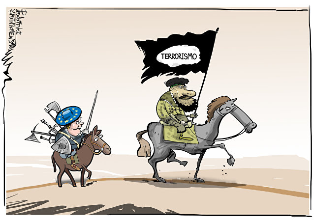 E esse rastro europeu nas coisas dos terroristas?