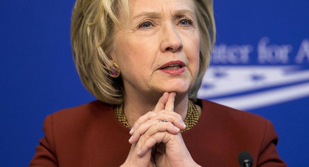 Former Secretary of State Hillary Rodham Clinton speaks in Washington. (File)