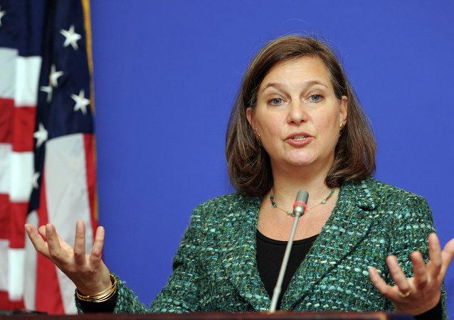 A secretária de Estado adjunta dos EUA para assuntos europeus e euroasiáticos Victoria Nuland