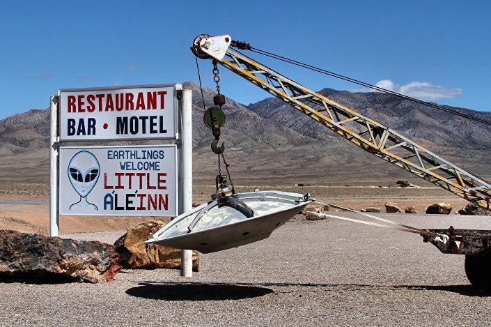 Locais perto da zona secreta Área 51 nos EUA