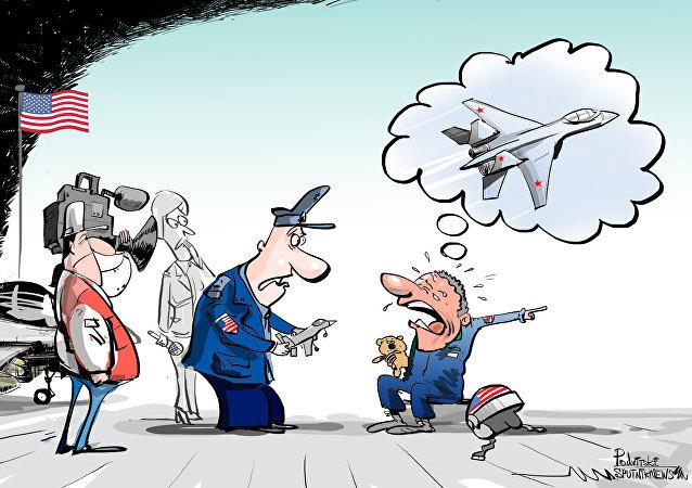 Não venha chorar como bebê, piloto dos EUA!