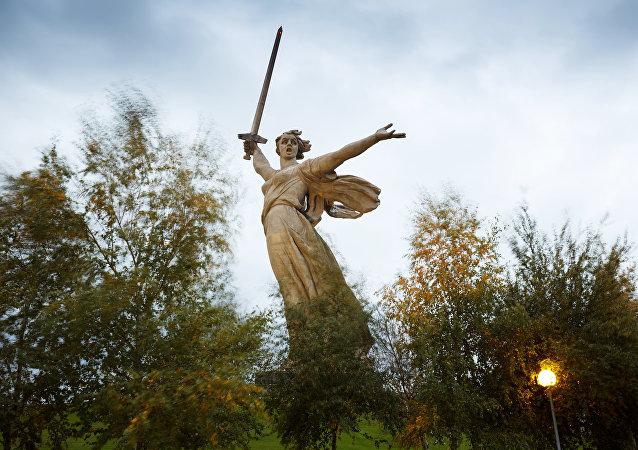 O monumento à Mãe Pátria em Volgogrado