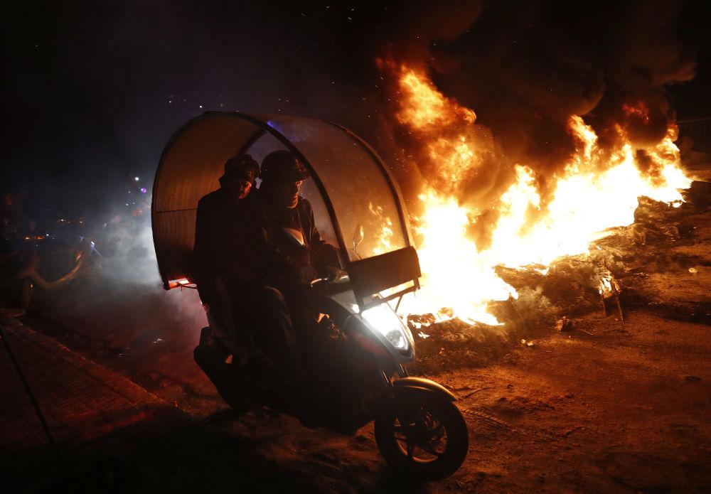 Consequências dos protestos contra o chanceler libanês Gibran Bassil na cidade de Beirut