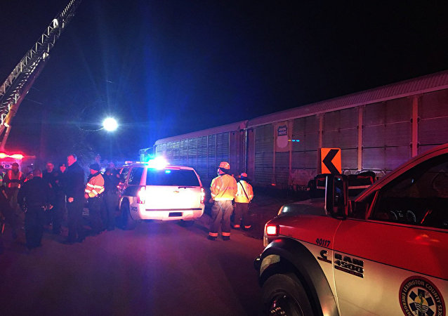 Colisão de trem nos EUA mata 2 e fere 116 em 4 de fevereiro de 2018 (foto de arquivo)