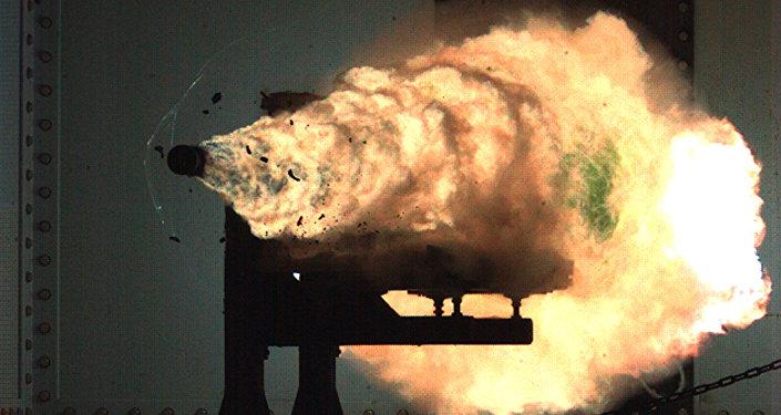 Canhão eletromagnético naval (imagem ilustrativa)