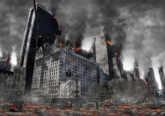 Cidade destruida (imagem ilustrativa)