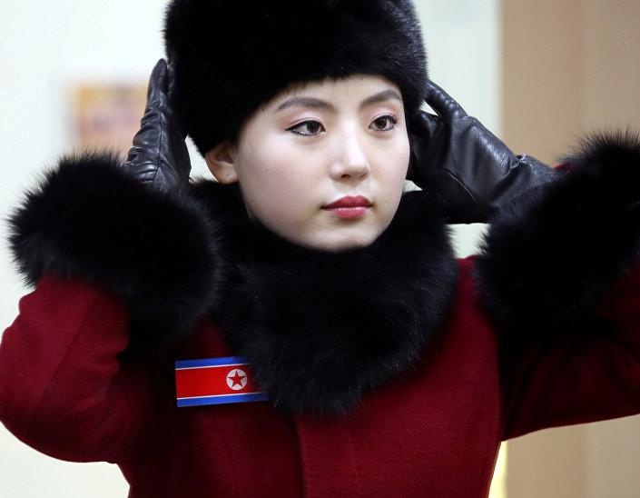 Líder de torcida norte-coreana