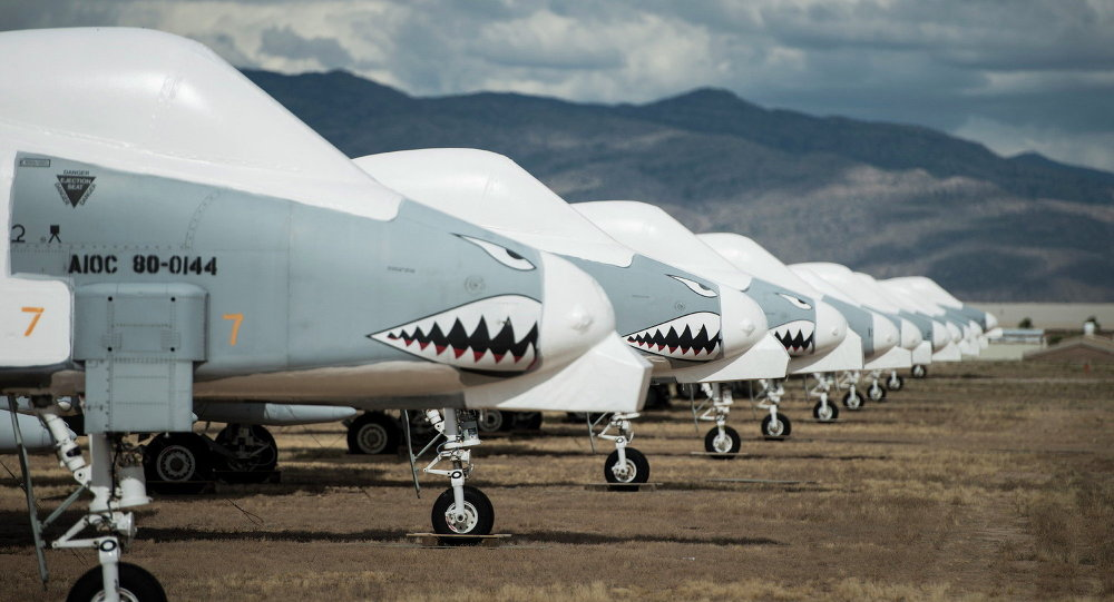 As aeronaves A-10 Thunderbolt II da Fairchild Republic no Arizona