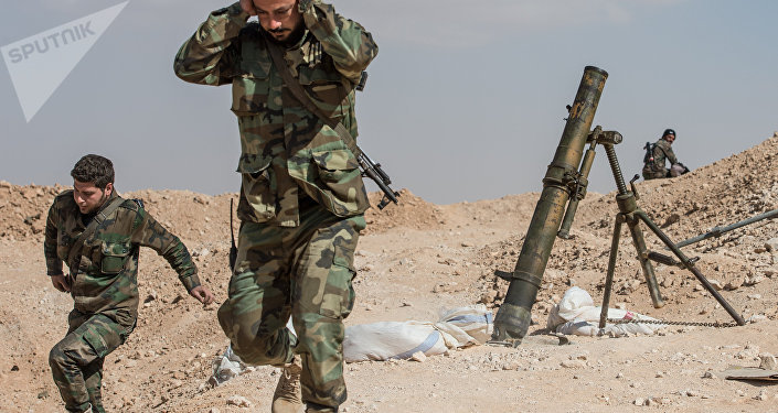 Soldados do exército sírio, foto de arquivo