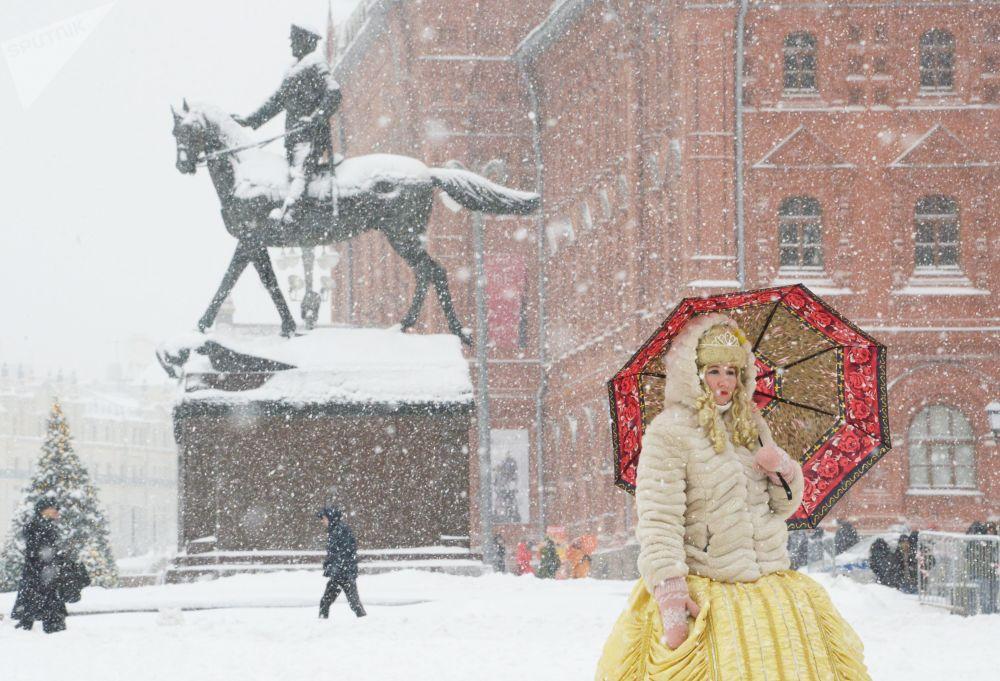 Nevasca em Moscou