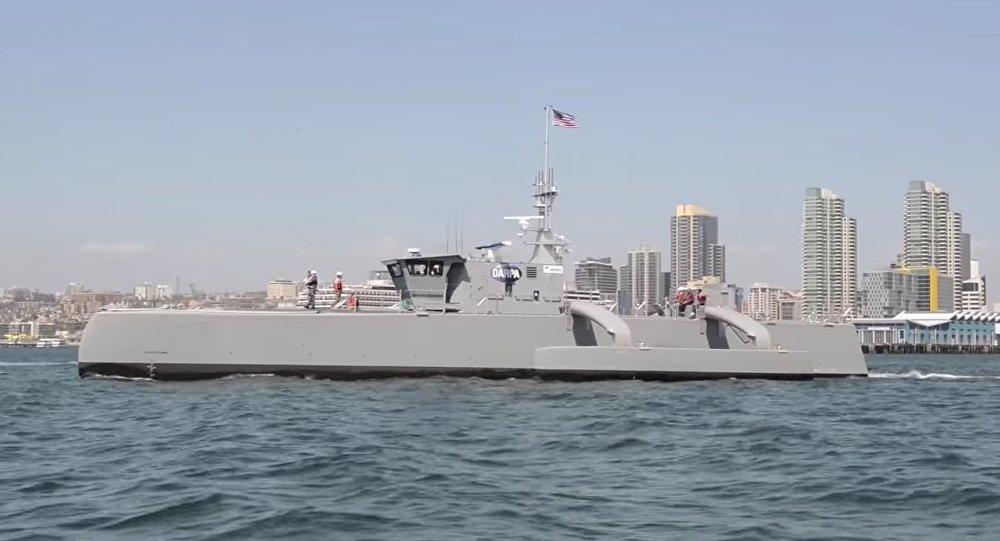 Novo submarino não tripulado norte-americano Sea Hunter