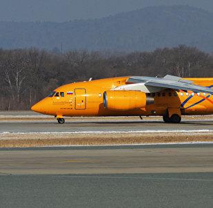 Avião de passageiros An-148, das Linhas aéreas de Saratov