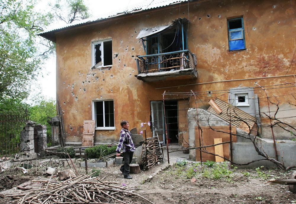 Donetsk está em ruínas após bombardeio noturno