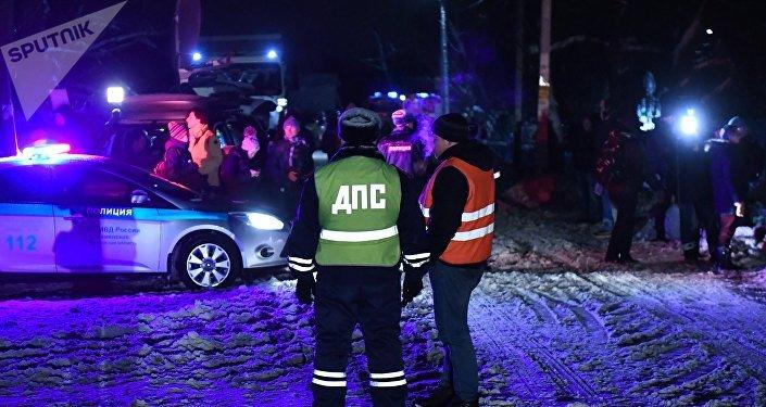 Área do acidente com An-148, 11 de fevereiro de 2018
