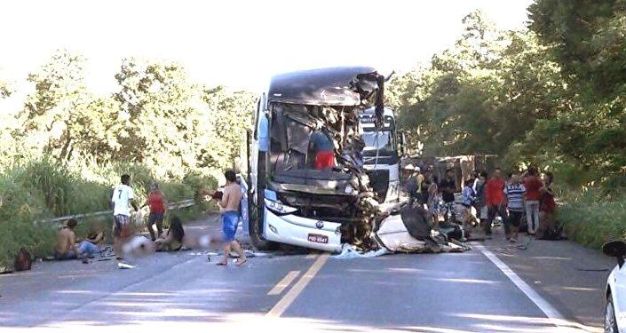 Acidente ônibus em Goiás