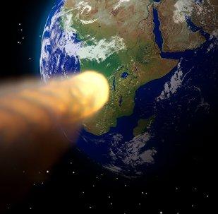 Asteroide se aproxima da Terra (imagem referencial)