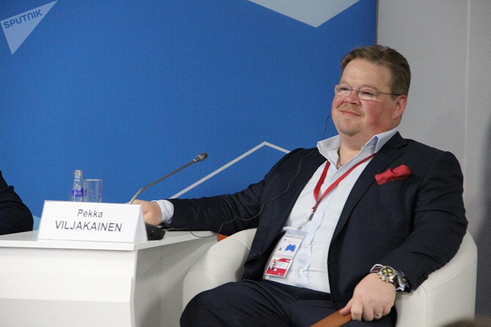 Eminente empresário, investidor e filantropo finlandês, Pekka Viljakainen, durante o Fórum de Investimentos 2018, em Sochi, em 16 de fevereiro de 2018