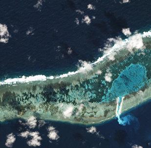 Recife de Ladd, ilhas Spratly, mar do Sul da China