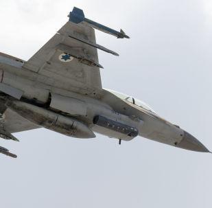 Caça israelense F-16 D (foto de arquivo)