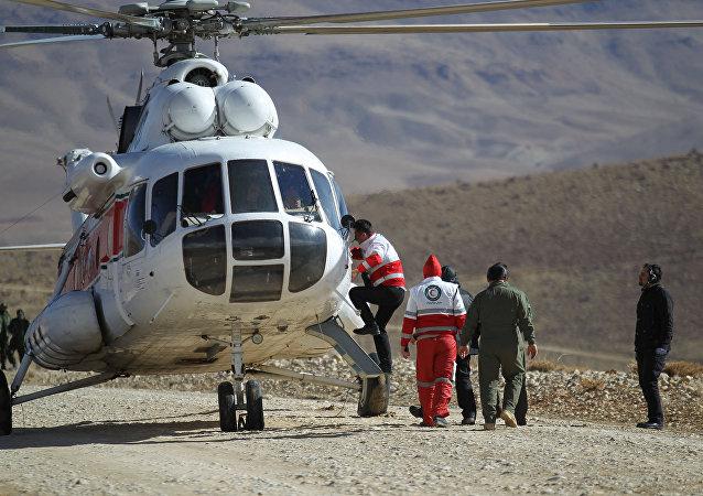 Operações de busca de destroços do avião iraniano caído em 18 de fevereiro
