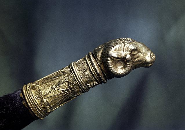 Artefato de ouro dos Citas do século IV a.C.