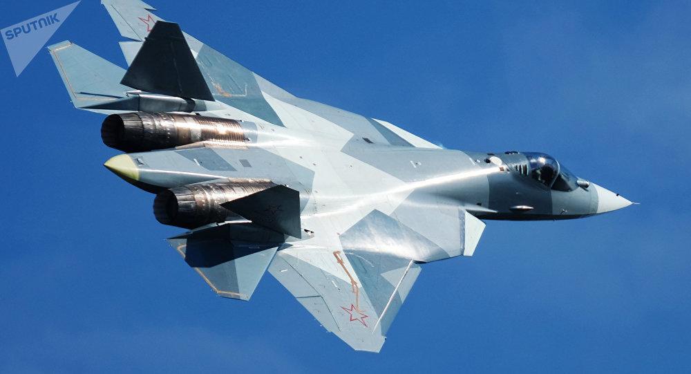 Caça russo da quinta geração Su-57 [© Sputnik / Maksim Blinov]