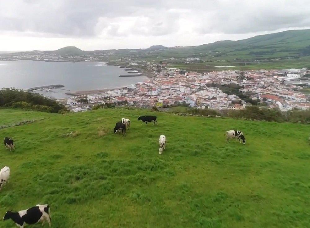 Área onde fica a base militar norte-americana nos Açores
