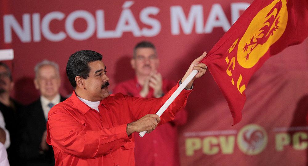 Maduro durante encontro com Partido Comunista da Venezuela