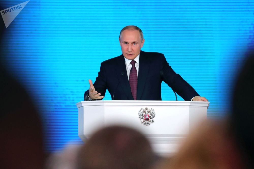 Presidente russo, Vladimir Putin, discursa perante Assembleia Federal