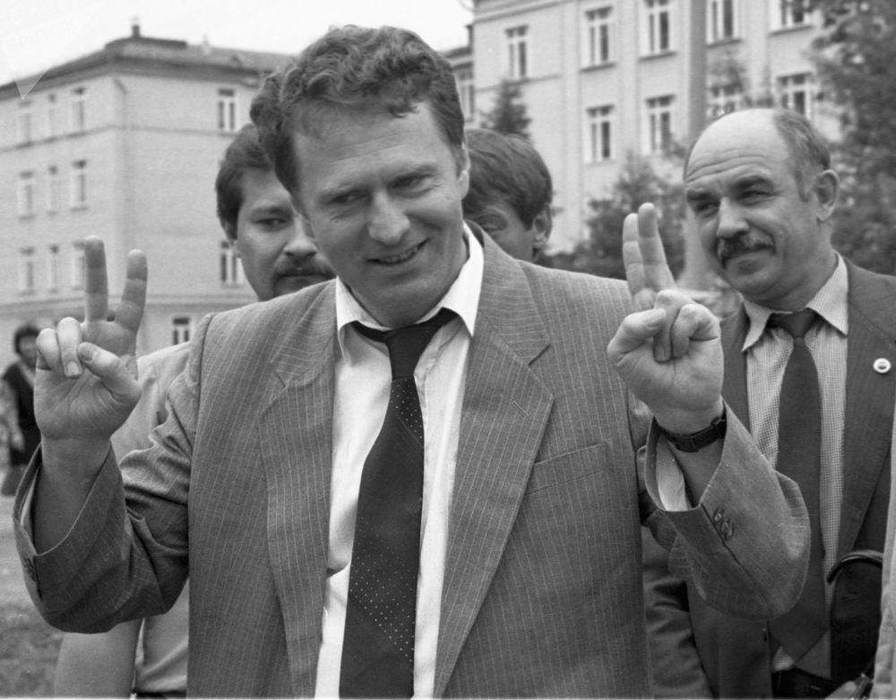 Candidato à Presidência da Rússia Vladimir Zhirinovsky, foto de arquivo