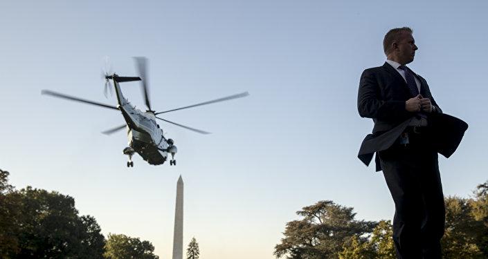 Agente do serviço secreto perto da Casa Branca em Washington