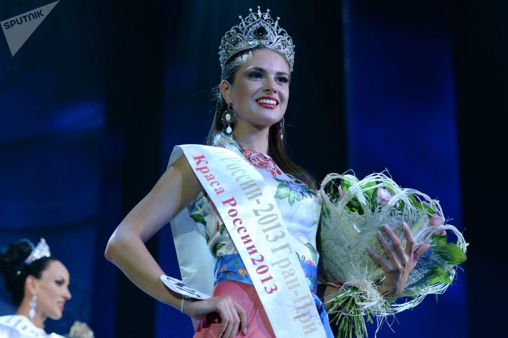 Anastasiya Trusova, a primeira candidata russa que entrou no quadro de finalistas do concurso Miss Terra, em 2014