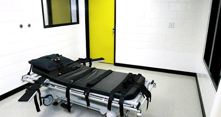 Câmara da morte na prisão de Jackson, Geórgia, EUA