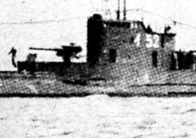 Submarino japonês I-52 da época da Segunda Guerra Mundial