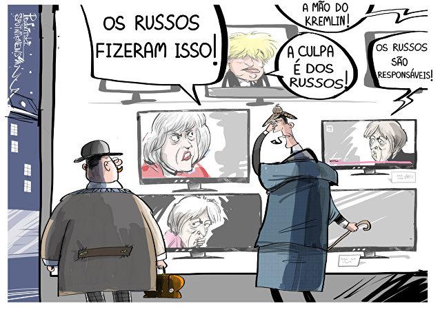 Reino Unido enchendo Sherlock Holmes de vergonha