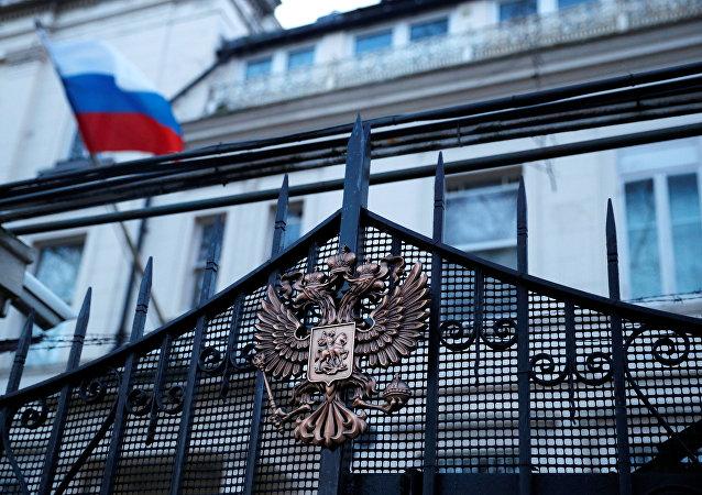 Embaixada da Rússia em Londres, Reino Unido, 14 de março de 2018