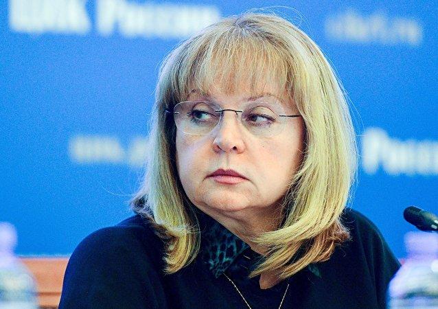 Ella Pamfilova, presidente da Comissão Eleitoral Central russa