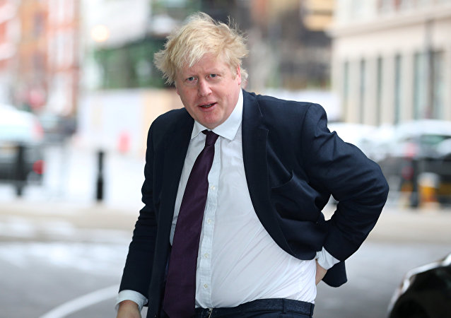 Britain's Foreign Secretary, Boris Johnson, arrives at the BBC to appear on the Andrew Marr Show, in central London, Britain March 18, 2018
