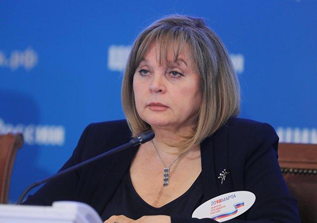 Ella Pamfilova, presidente da Comissão Central de Eleição