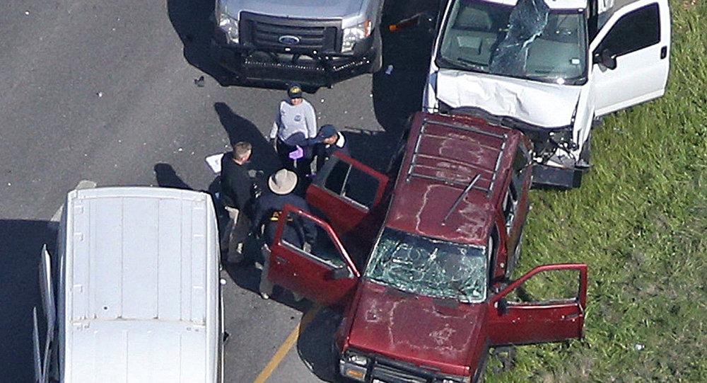 Carro onde serial bomber se explodiu ao ser perseguido pela polícia