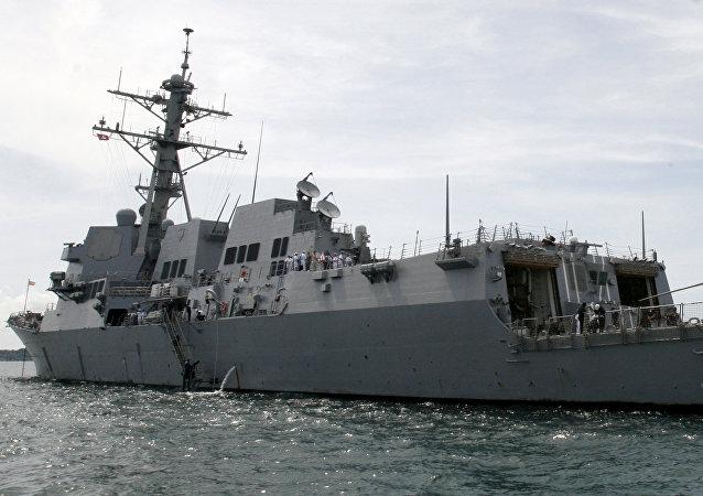 Destructor estadounidense USS Mustin (archivo)
